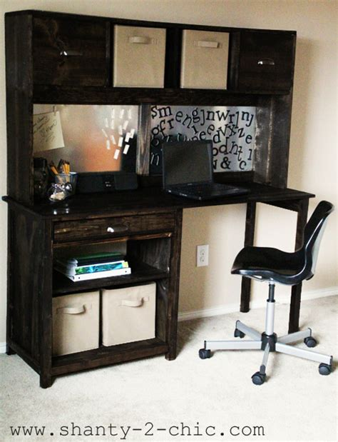 How To Build A Desk Hutch by How To Build Your Own Desk Hutch Plans Diy Free