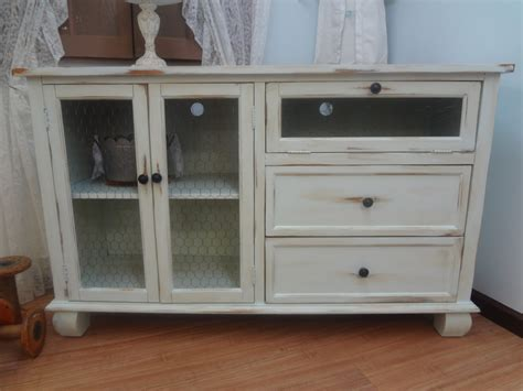 shabby chic rustic entertainment center tv stand by thepinktoolbox