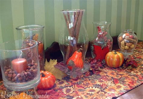 Fall Vase Ideas by Fall Decorating With Hurricane Vases Hoosier