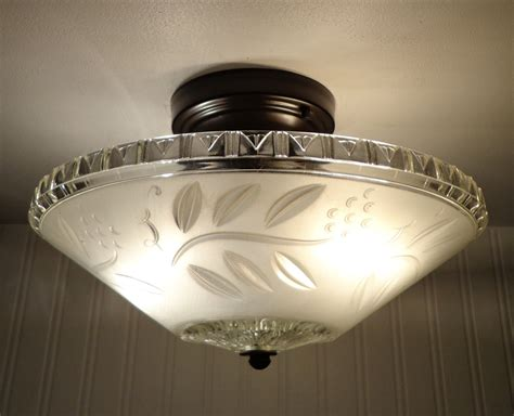 Vintage Flush Mount Ceiling Light Antique Ceiling Light With Semi Flush Mount By Lgoods