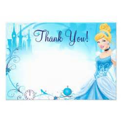 cinderella 1 thank you cards custom announcement