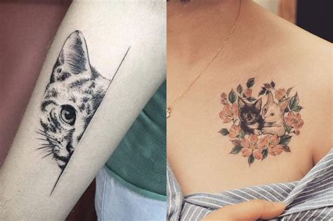 cat tattoo com 14 downright awesome tattoo ideas for cat lovers cuteness