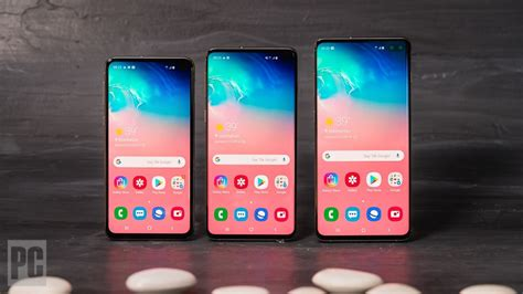 galaxy of choices samsung galaxy s10 vs s10 vs s10e vs s10 5g news opinion pcmag