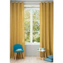Mustard Colored Curtains Inspiration Washed Linen Eyelet Curtain In Mustard Yellow 130 X 300cm Maisons Du Monde
