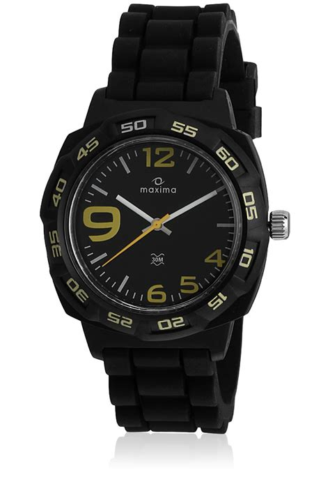 maxima black analogue watches 27661ppgw for prices