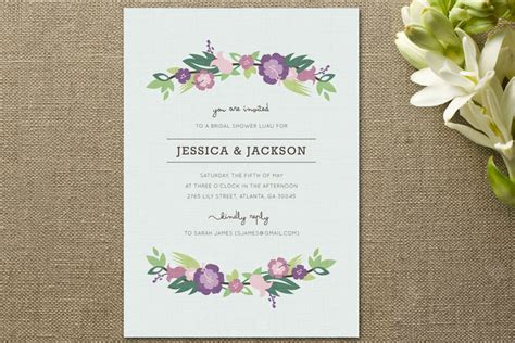 Shower Invites by Floral Bridal Shower Invitations Rustic Wedding Chic