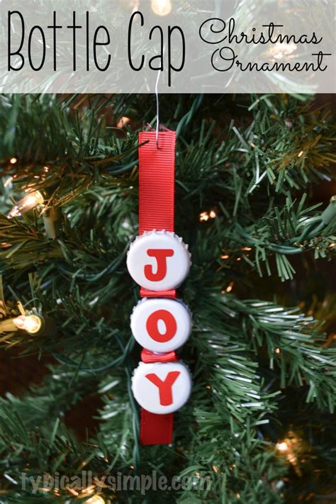 bottle cap christmas ornament typically simple