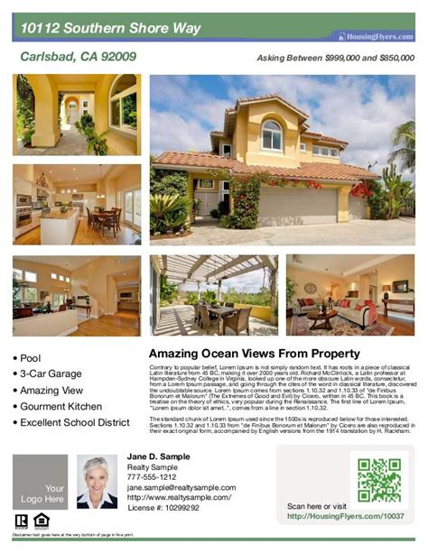 real estate brochure templates psd free download best samples