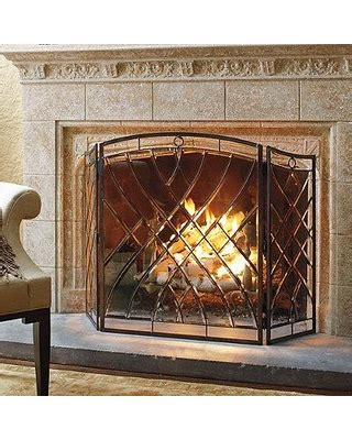 amazing deal  victoria beveled glass fireplace screen