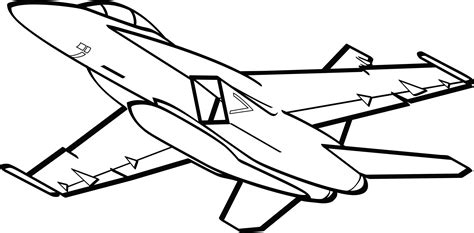 F 18 Coloring Pages by Hornet Clipart Plane Clipart