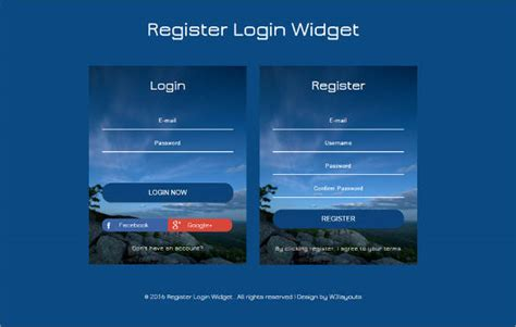 responsive login form template html5 signup registration forms 20 free html css