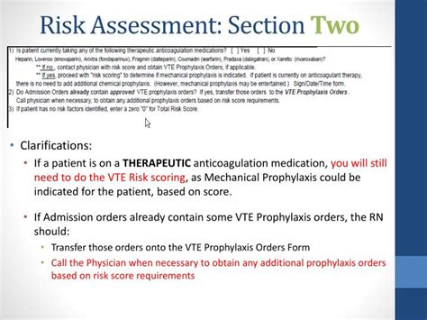 assessment section ppt vte prophylaxis powerpoint presentation id 1749530