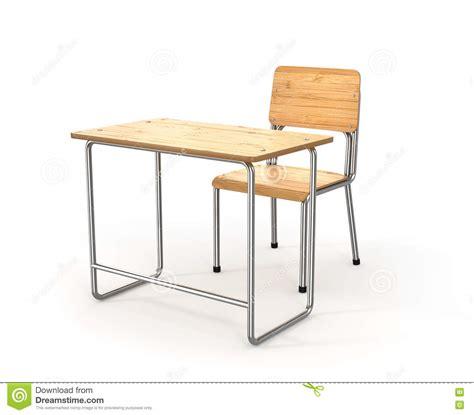 bureau fond d 馗ran bureau et chaise d 233 cole sur le fond blanc illustration
