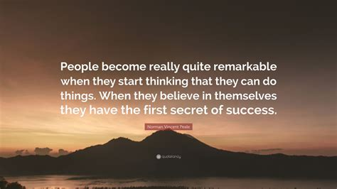 norman vincent peale quote people    remarkable   start thinking