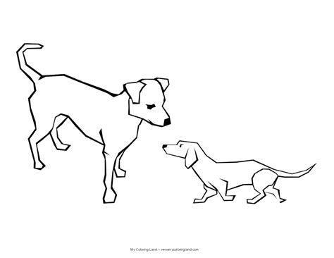 two dogs coloring page free coloring pages of two dogs