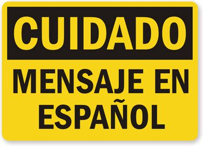 printable area en espanol customizable spanish caution sign cuidado sku s 3521