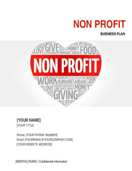 non profit organization business plan 3 template