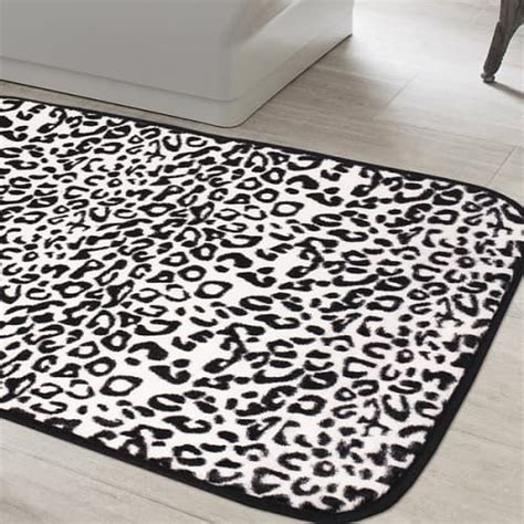 20 gorgeous black and white bathroom rugs under 70