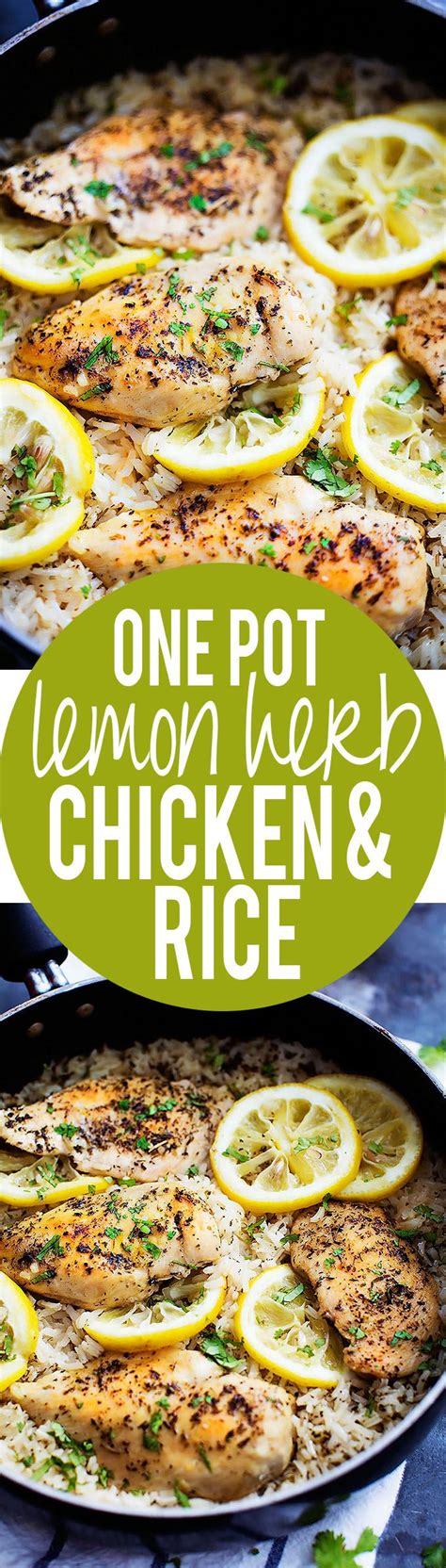 recipe lemon herb instant pot one pot lemon herb chicken rice recipe herbs rice