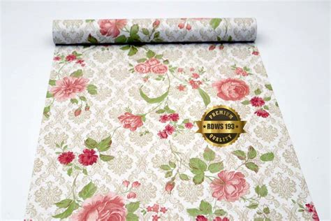 rdws 193 krem shabby batik wallpaper sticker 45cm x 10m