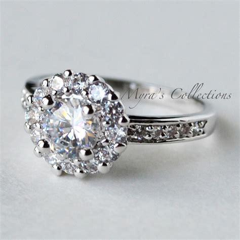1 22 carat flower anniversary wedding engagement