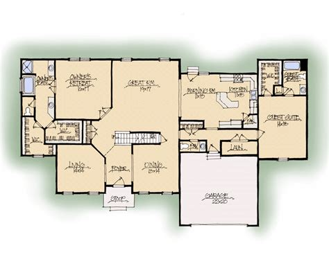 House Plans With Dual Master Suites - schumacher homes house plan detail