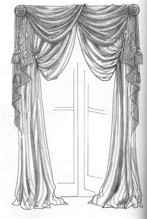 curtains drawn hand drawing curtains window treatments