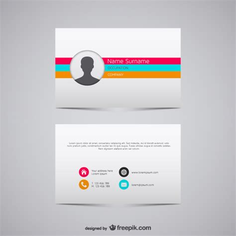 Free Name Card Template Ai by Vector Business Card Illustration Vector Free
