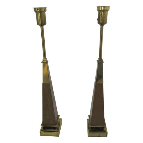 Stiffel Brass L by Pair Of Mid Century Table Ls By Stiffel Brass Wood From