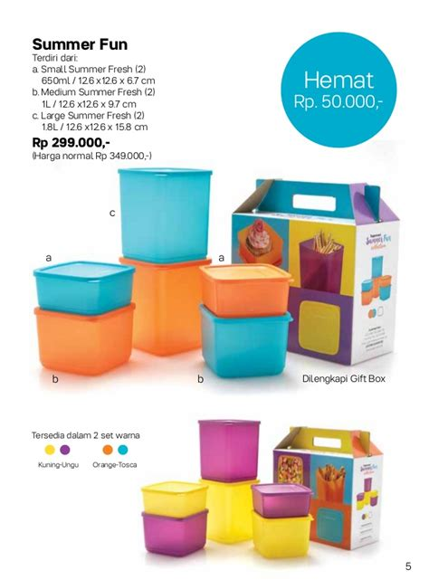 Tupperware New Eco 1l Ungu Orange katalog tupperware 2017 jual tupperware promo harga