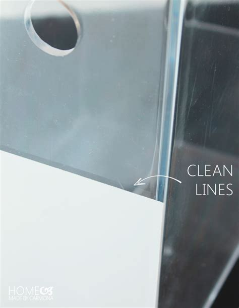 clean lines the secret to painting acrylic plastic glass