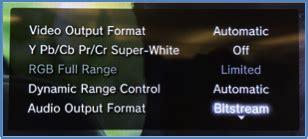 format audio bitstream enabling dolby bitstream pass through on playstation