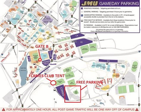 jmu map jmu football stadium map