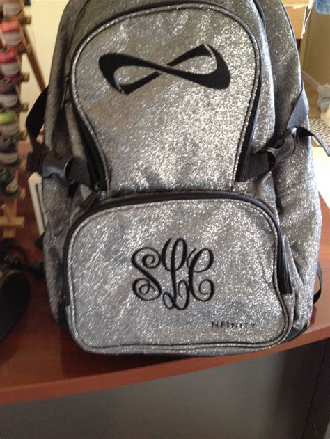 monogrammed book bag custom embroidery pinterest