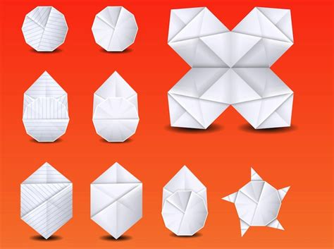 Office Origami - folding office supplies origami vector vector free