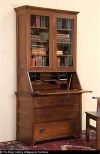 Drexel Bookcase Sold Oak 1900 Antique Secretary Desk Amp Bookcase Glass