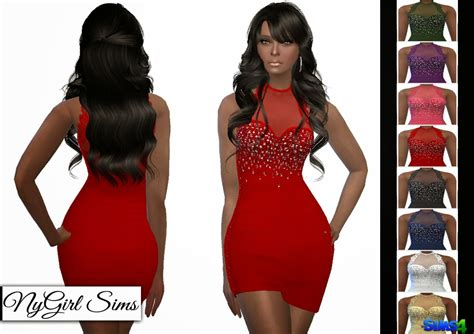 lace shirt the sims 4 nygirl sims 4 lace trim asymmetric mini dress