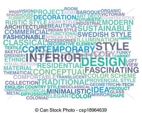 design concept words vectors of interior design word cloud concept csp18964639