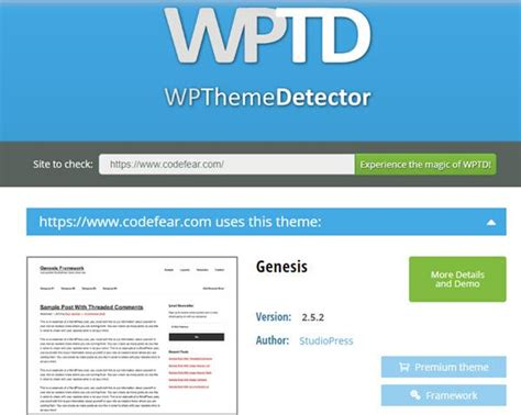 wordpress themes detector how to know what wordpress theme is this codefear