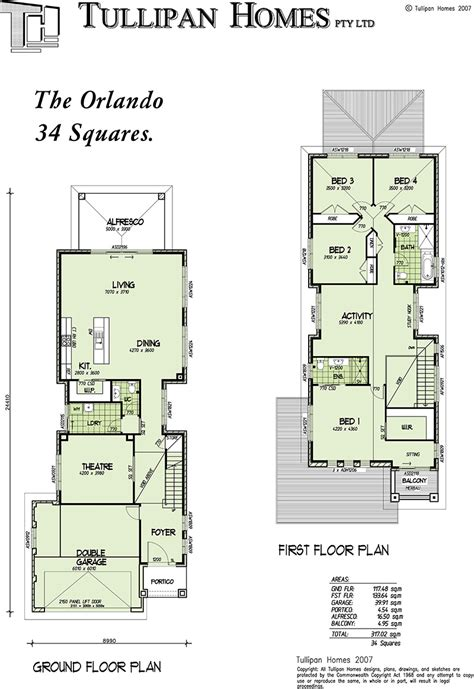 Single Storey Floor Plan by Orlando Double Storey Narrow Home Design Home Design