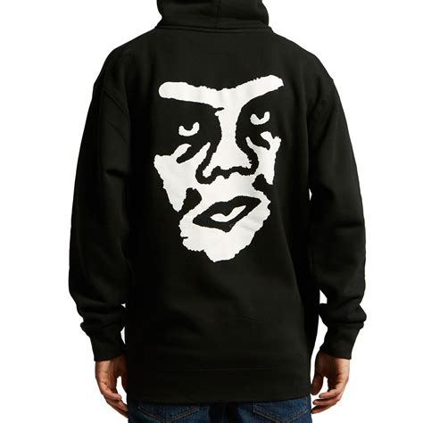Hoodiezipper Obey obey the creeper zip hoodie black