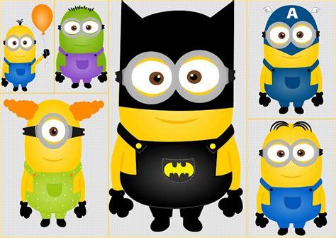 imagenes de minions super heroes clipart de minions super h 233 roes oh my fiesta friki