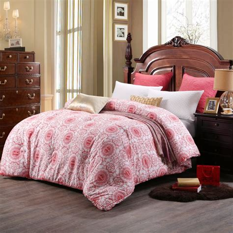 magenta bedding geometric themed magenta sanding wedding comforter