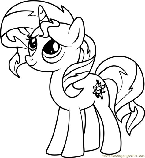 my pony coloring pages pdf sunset shimmer pony coloring page free my pony
