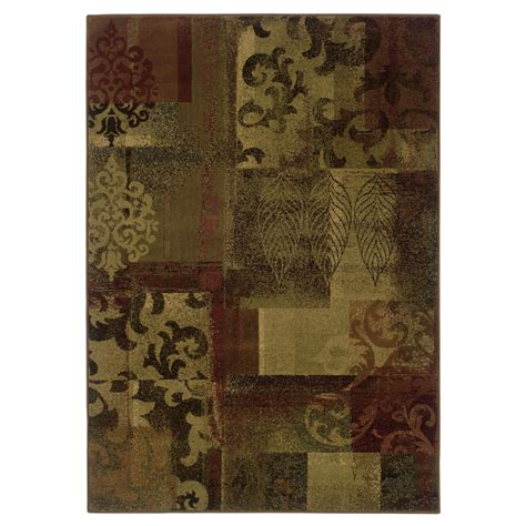 Allen Roth Area Rug shop allen roth bodega rectangular floral woven area rug common 10 ft x 13 ft actual 9