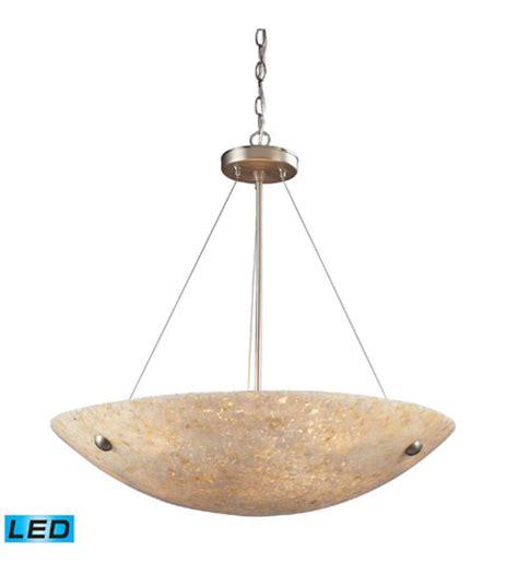 24 Inch Pendant Light Elk 8887 6 Led Stonybrook Led 24 Inch Satin Nickel Pendant Ceiling Light
