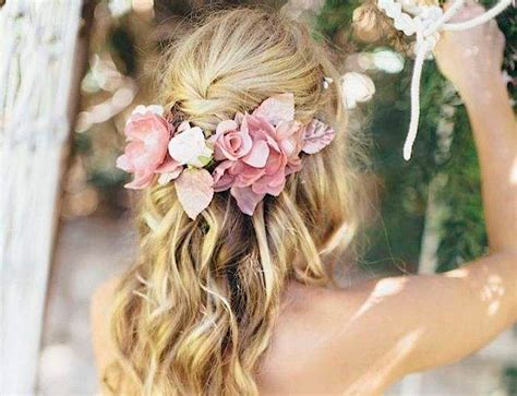wedding hairstyles half up half down with flowers half up half down wedding hairstyles modwedding