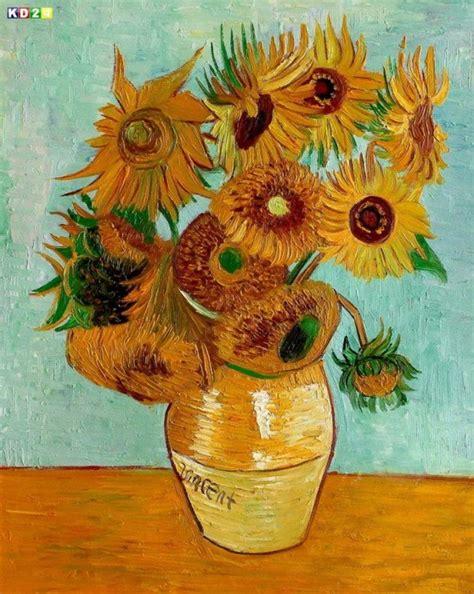 van gogh sonnenblumen keilrahmenbild auf leinwand ebay vincent van gogh zw 246 lf sonnenblumen b81170 40x50cm