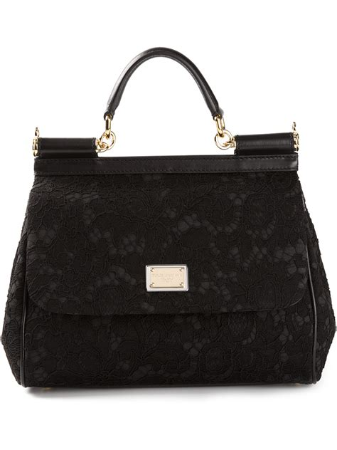 Dolce And Gabbana Miss Pocket Tote by Dolce Gabbana Miss Sicily Tote In Black Lyst