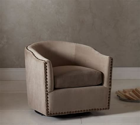 pottery barn swivel chair harlow upholstered swivel armchair pottery barn